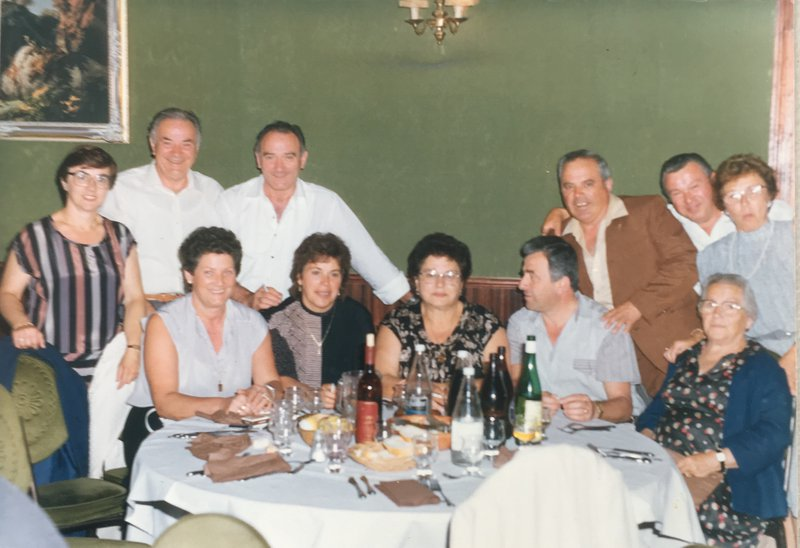 Happy days when my extended family came from overseas Italy and france