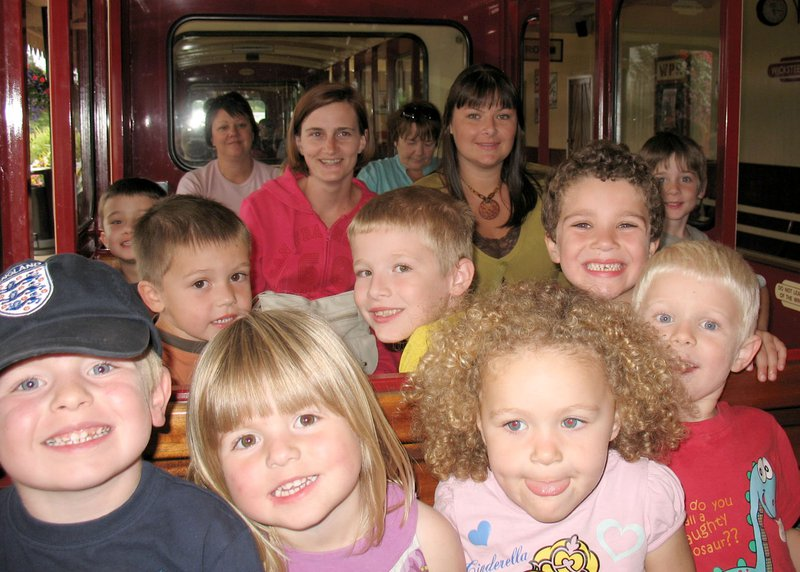 A fun day out with all the kiddies at Wicksteed Park (2010).