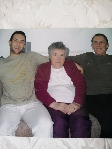 Jim with his late mother Mary & son Barry