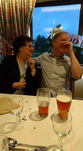 Glyn having a good old chuckle with his Aunty Jenny at his 50th. God Bless Jenny, time to rest, you'll be missed very much xxx