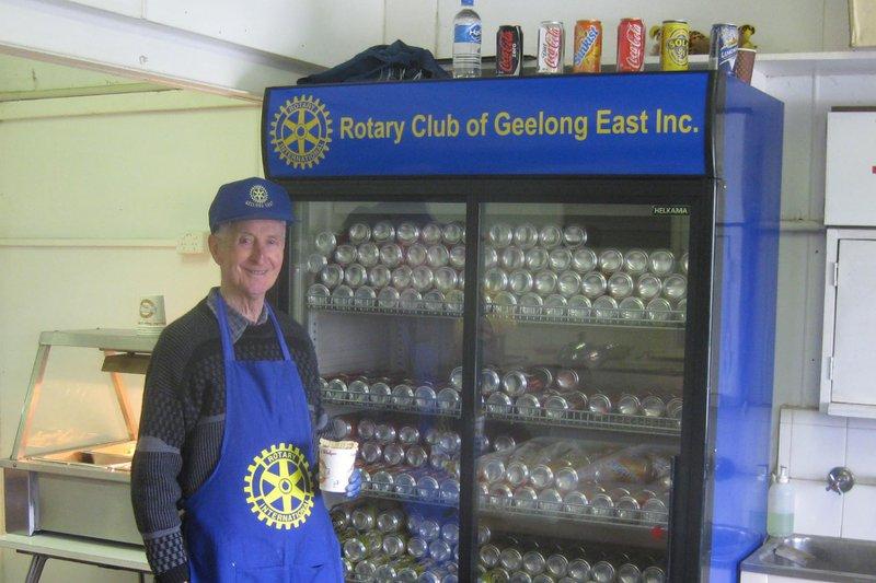 Rotarian George Raising Funds