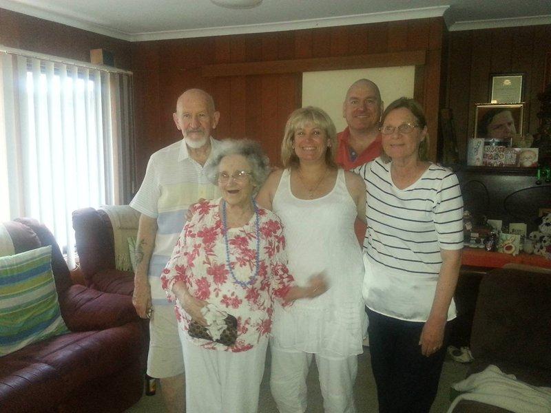 RIP Aunty Edith, love Tracey & Trevor