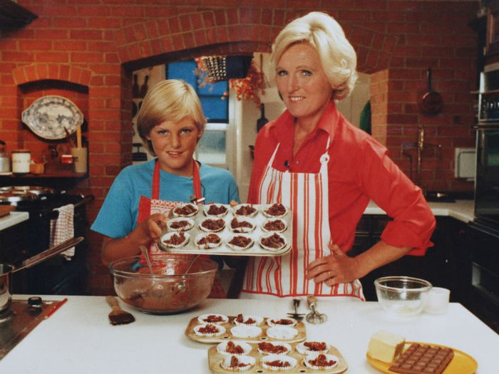 Mary Berry and daughter Annabel in 1983