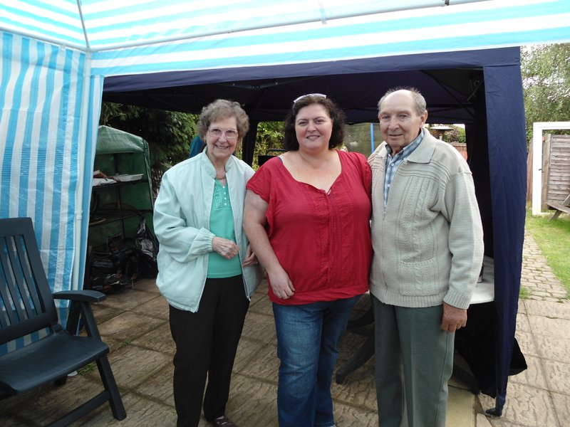 Sharon with my Mum and Dad at Shelley's 40th. Love you all.