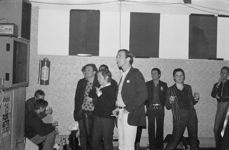 Gerry, centre of the scene, at Baroona Hall, watching (probably) Zero, my old band, in the winter of 1980. Picture by Paul O'Brien, courtesy of the State Library of Queensland.