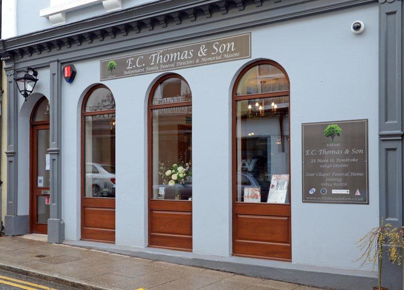 E C Thomas & Son, Pembroke, Pembrokeshire, funeral director in Pembrokeshire
