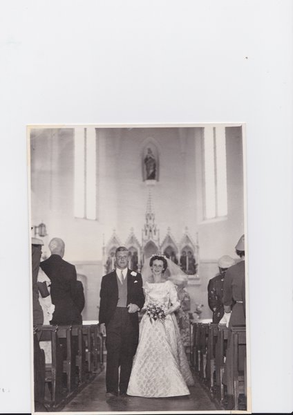 Molly and John on their wedding day