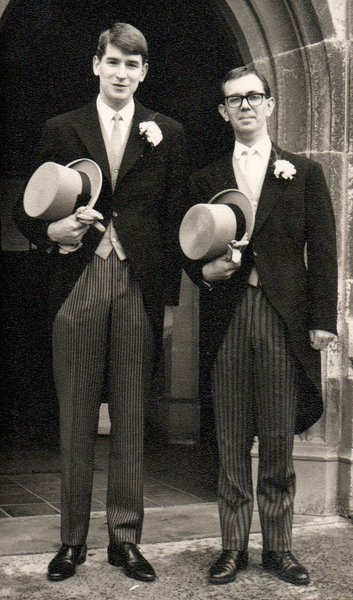 Mike with my ex Andrew Curry as best man at our wedding in March 1967