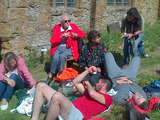 Walesby Church Aug 2014. A ramble in memory of Alan