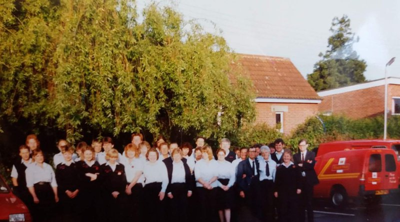 Stuart and his Royal mail family in the early 90s