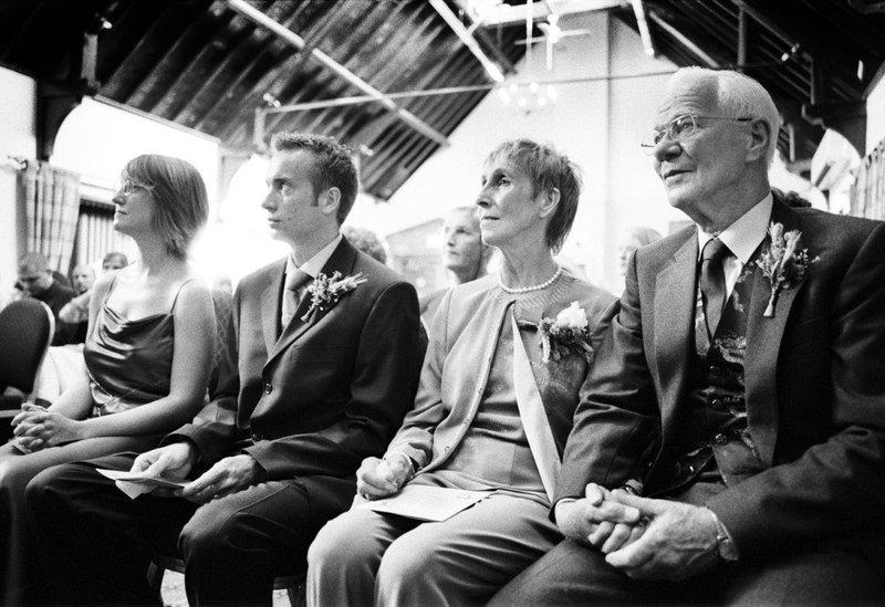 Vicky, James, Mum and Jim at Kate and Chris' wedding.