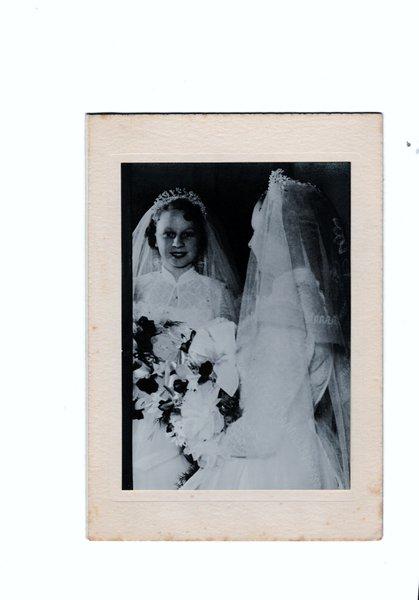 Mum's wedding day. 5th June 1954.
