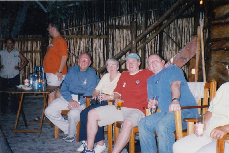 Binghams on tour in South Africa. They had never been on a plane before but travelled to S.A in 2003.