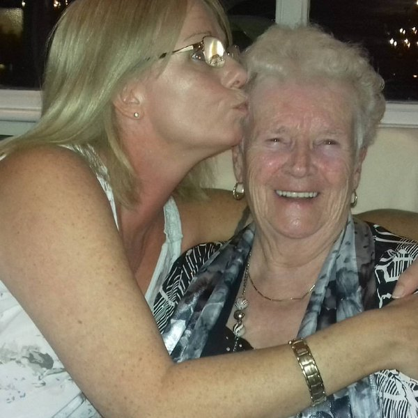 Donna and Edna's celebrating Edna's 90th