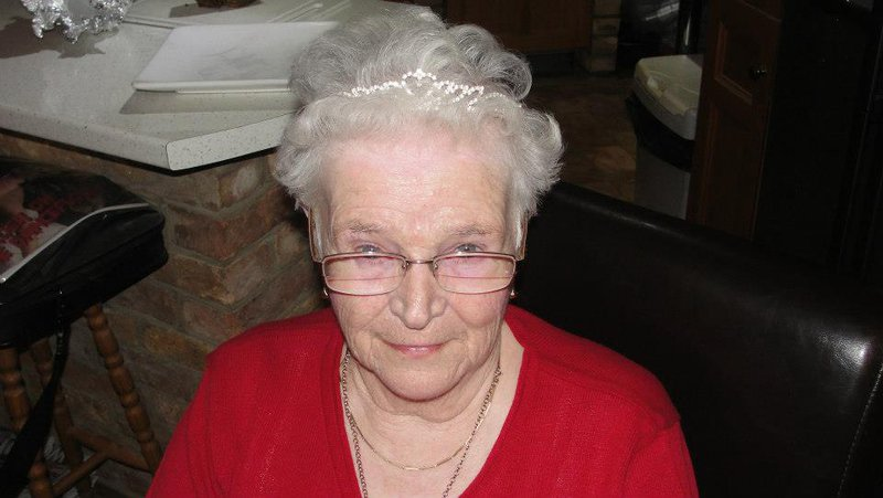 The Duchess, in her tiara, celebrating her 85th