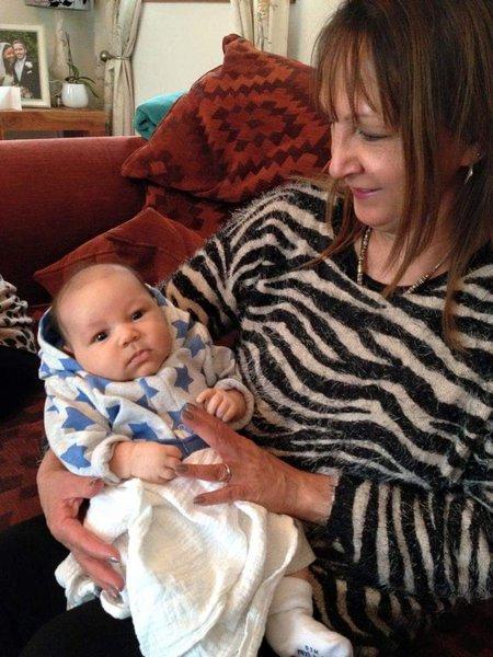 Linda with baby Joe 6 years ago xx