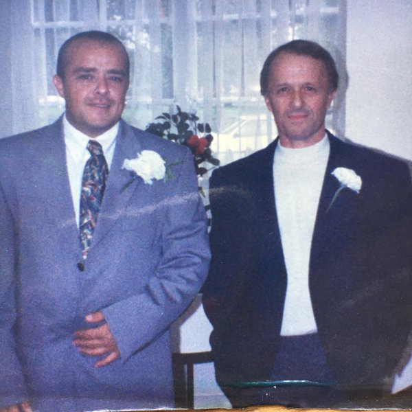 Steve and dad on Steve's wedding day 1995 ❤️❤️