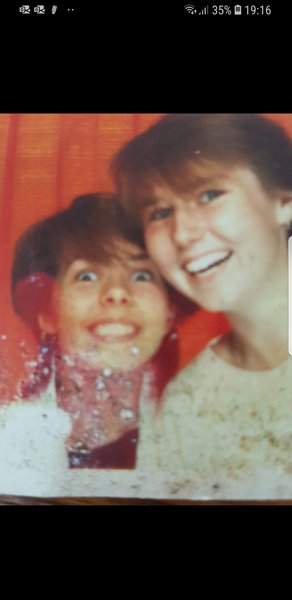Me and Corrine in the 80's  Happy times xx