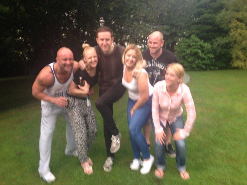 summer party - Mellor Manor - striking a pose!
