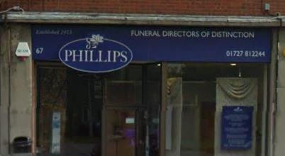 Phillips Funeral Directors, Marshalwick, Hertfordshire, funeral director in Hertfordshire