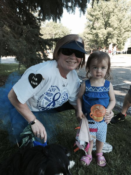 Gillian entered our lives at Children's Hospital in Colorado. She gave us hope in a time when all odds were against us. Here she is with our Isla, when we joined her fight at a local race. She will be sorely missed by our family and so many others.