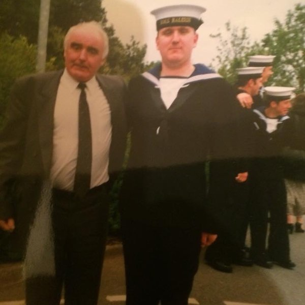 Taken in 1999 me and dad at my passing out parade when i joined the Royal Navy a very proud day for me and dad