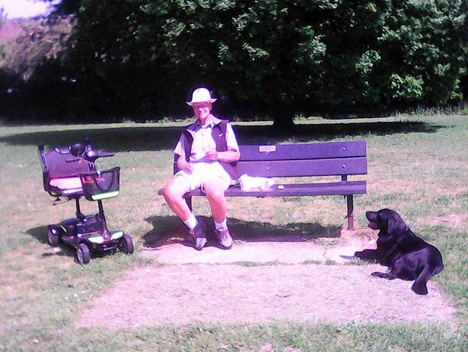 Jim and Bruce in the park - summer 2020.