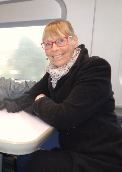 On the train to Margate