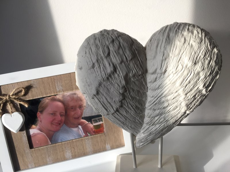 Bought you some nice angel wings nan to go with our photo . I never stop thinking about you still miss you like crazy and love you to the moon and back sleep tight God bless xx
