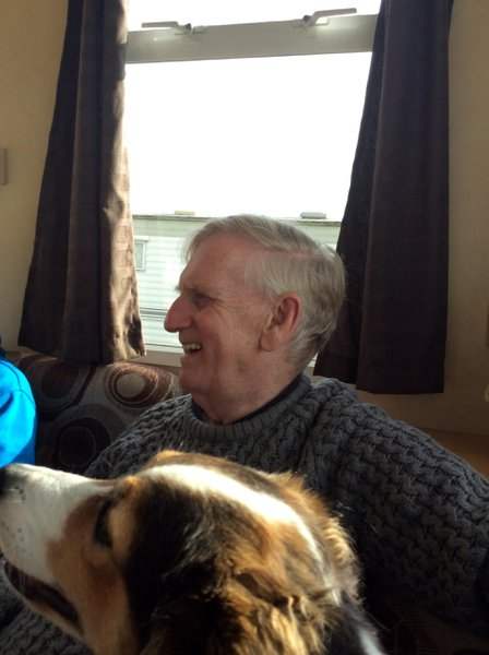 Jasmine with Uncle Neil on his 70th Birthday at Withernsea