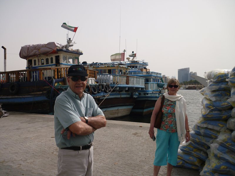 My Dad loved it down by the Creek in Dubai looking at all the interesting trading boats.