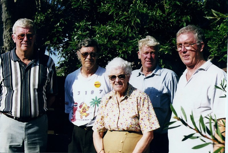 Nana with the four boys - Dad, Uncle Arthur, Uncle Max, Uncle Geoff