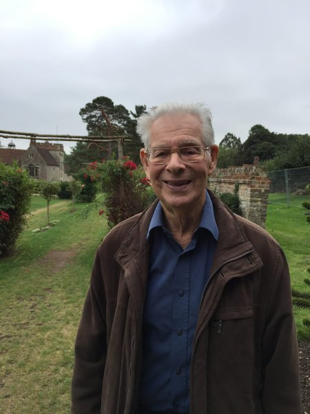 Peter visiting a private garden
