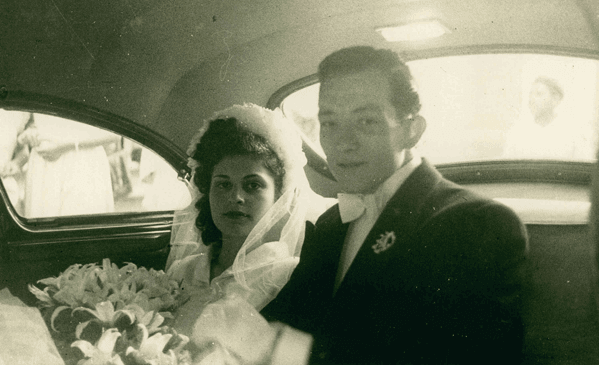 Michael and Lillian on their wedding day - 1949