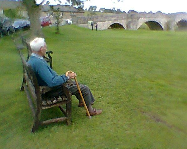 Dad enjoying the view at Burnsall