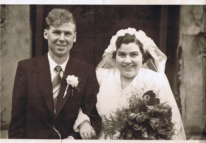 The happy couple - 14th July 1956