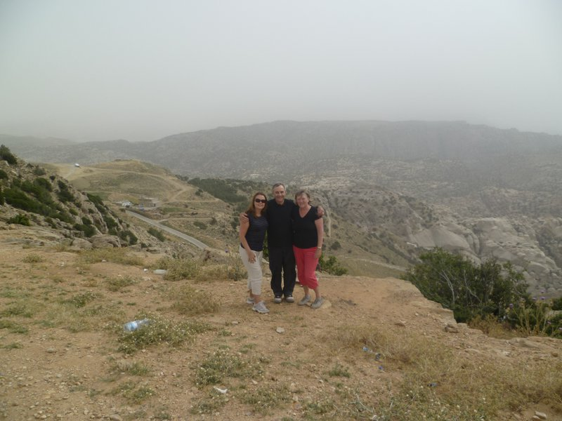 With Mum & Dad at the Dana Nature Reserve in Jordan.  One of our fantastic family holidays.  xx