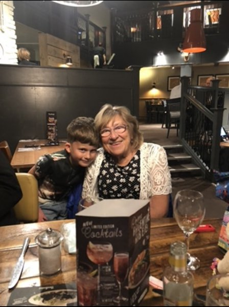 Mum with her Grandson James