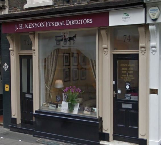J H Kenyon Funeral Directors, Westminster, London, funeral director in London