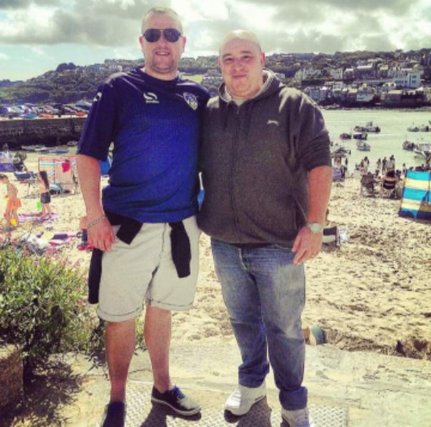 Darren and me on our visit to see him and Tanya back in 2015 down in St Ives