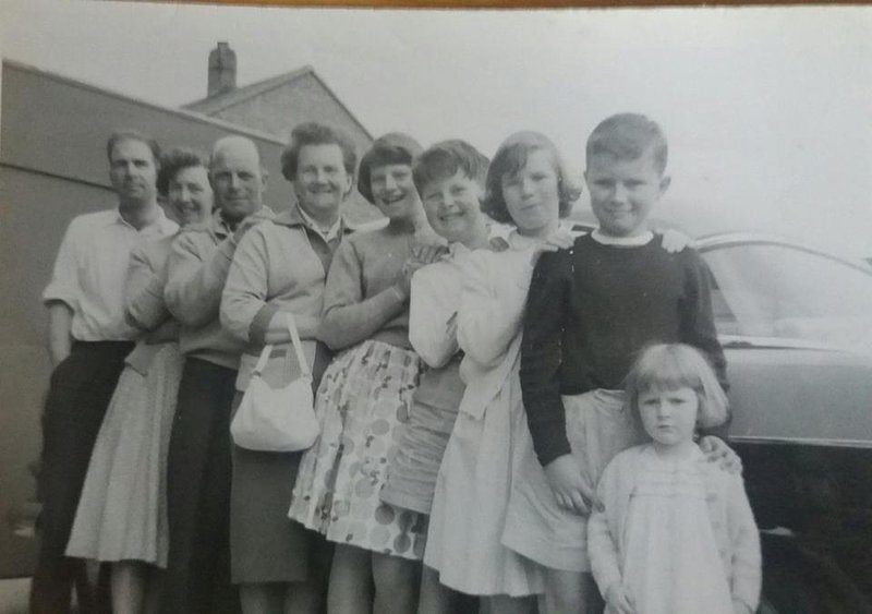 Happy days when we were all together as children, with your mum and dad , and my mum and dad ,and Stephen taking the photograph.
