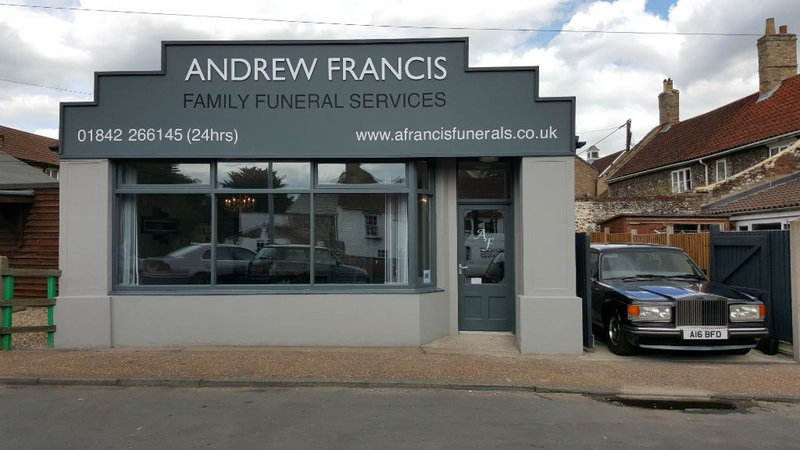 Andrew Francis Funeral Service, Thetford, Norfolk, funeral director in Norfolk