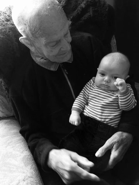 Pa with Henry Roland Amos 2014