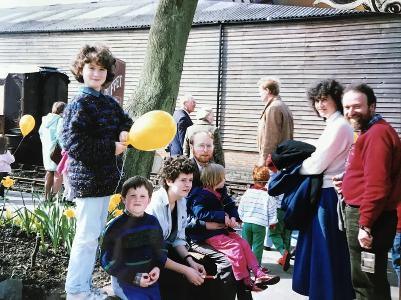 Day out with our two families. 1988. Special times.