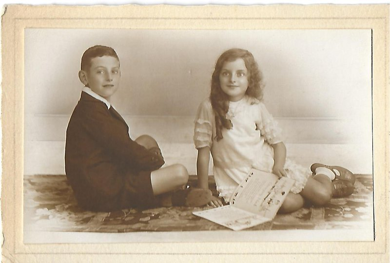 Frank and mabel circa 1930 in a posed studio portrait