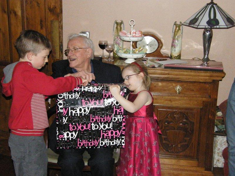 Dad with Great Grandchildren