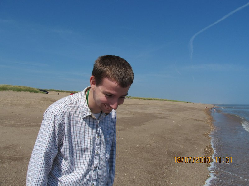 The last time we were on Sutton Beach