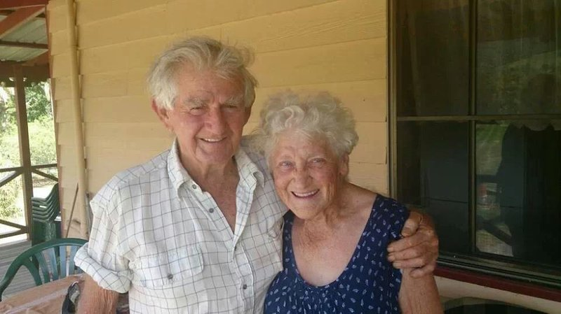 Robert and Margaret at home, Eungella.  Picture taken by Alicia (Granddaughter).