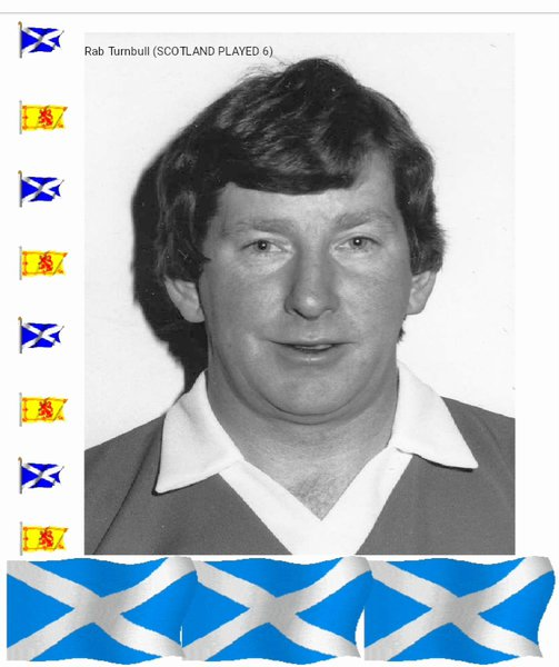 Playing for Scotland 1986