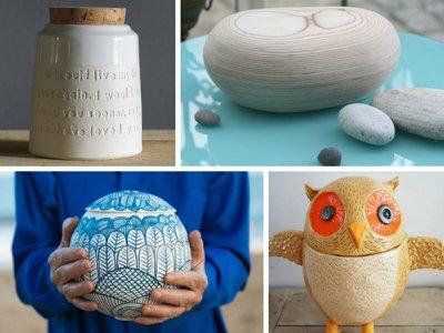 Unusual and unique cremation urns
